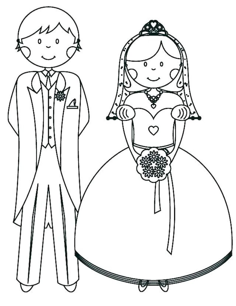 wedding coloring pages clip art Printable