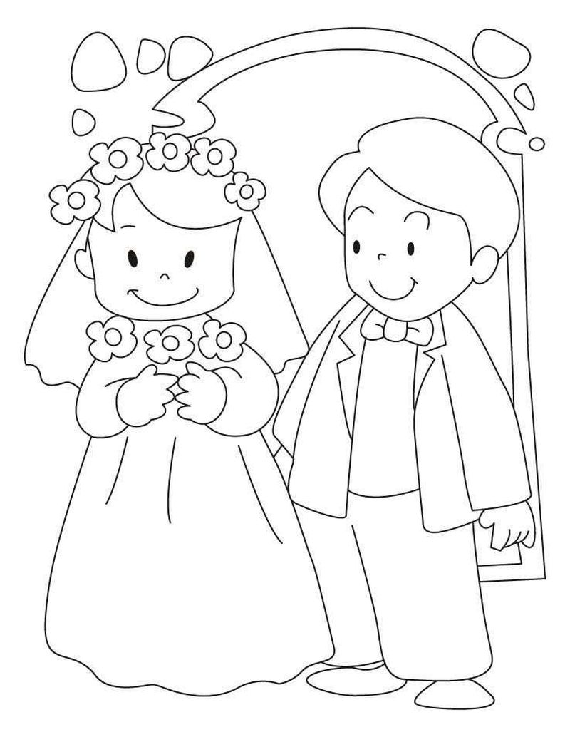 wedding coloring pages disney
