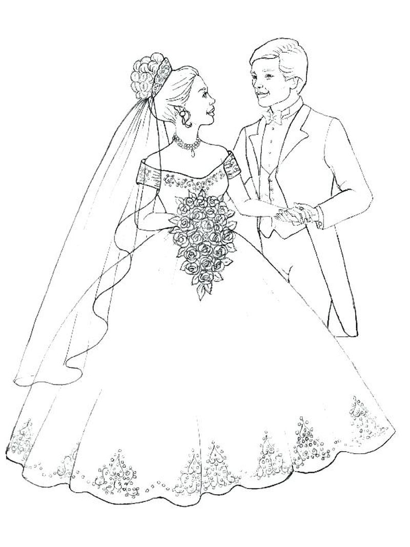 wedding coloring pages for kids free printable