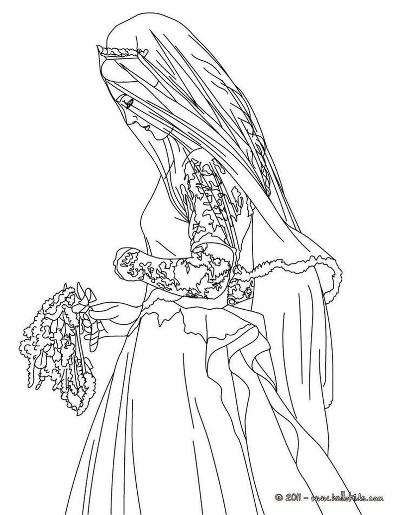 wedding coloring pages kids