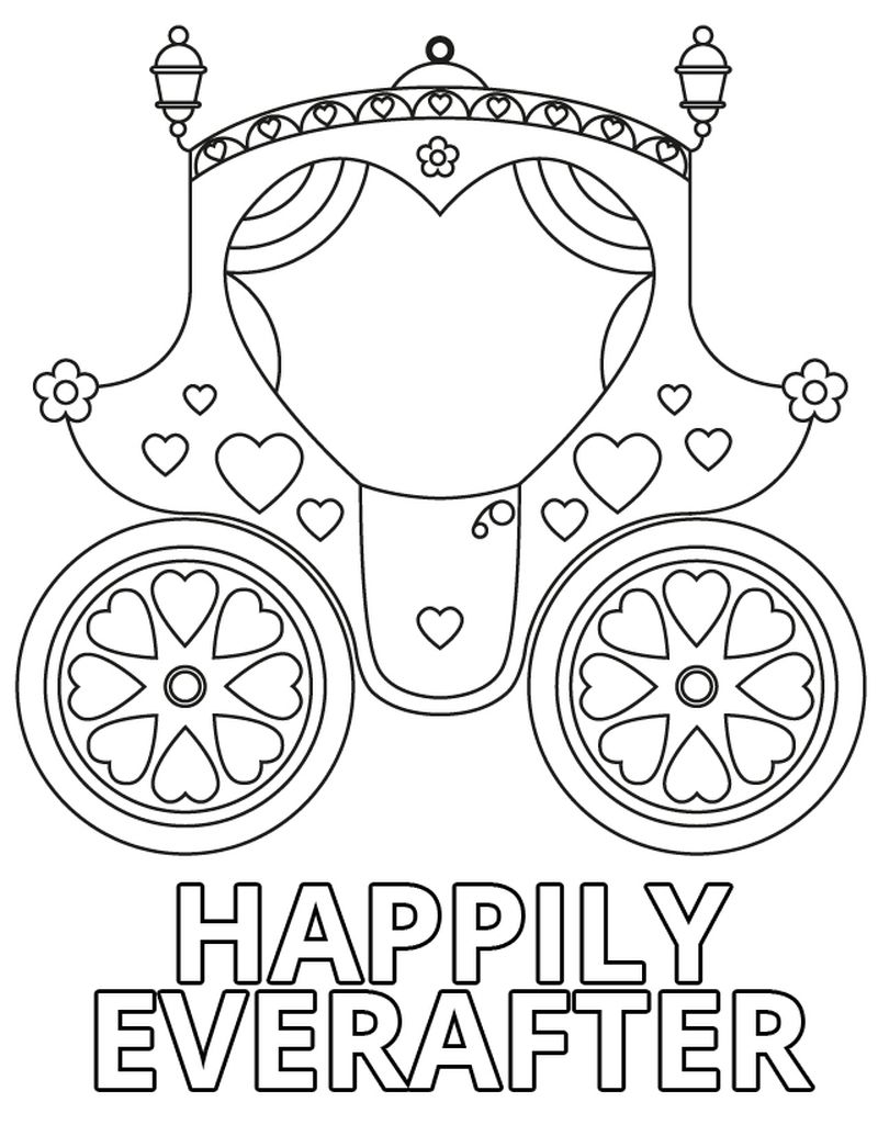 wedding dresses coloring pages Printable