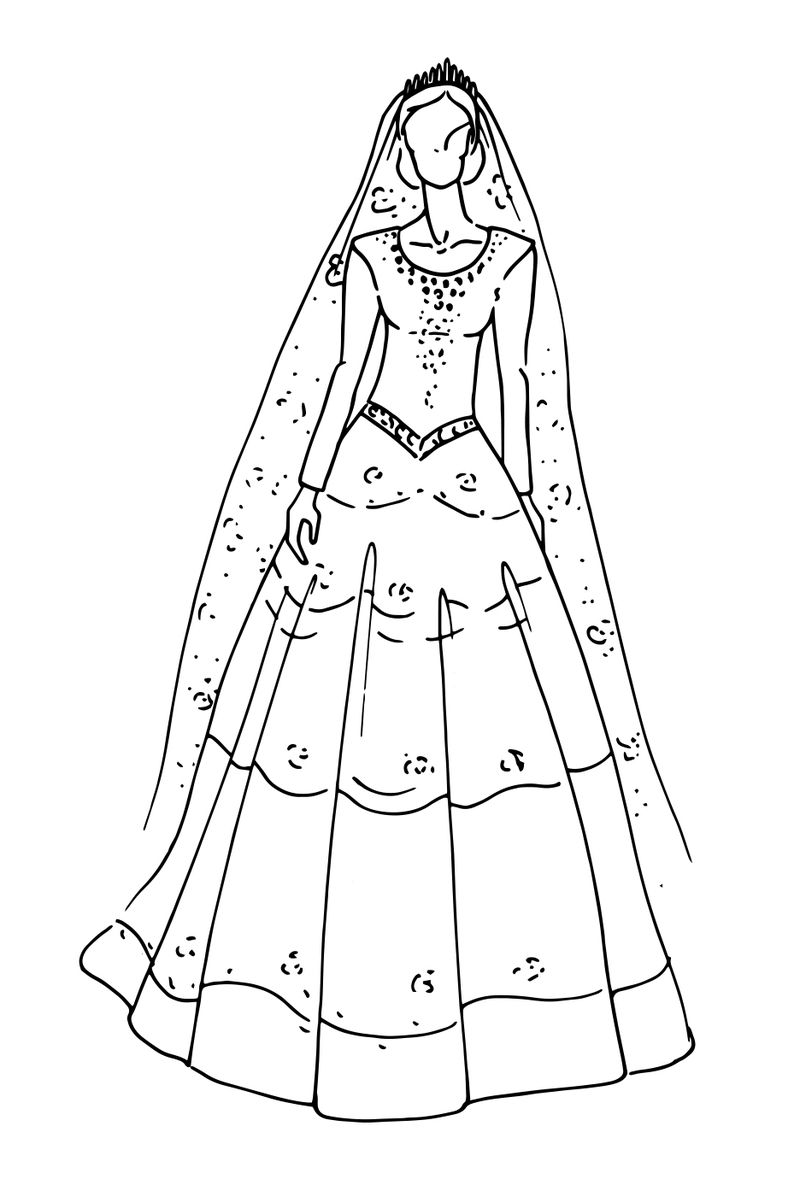 wedding peach coloring pages Printable