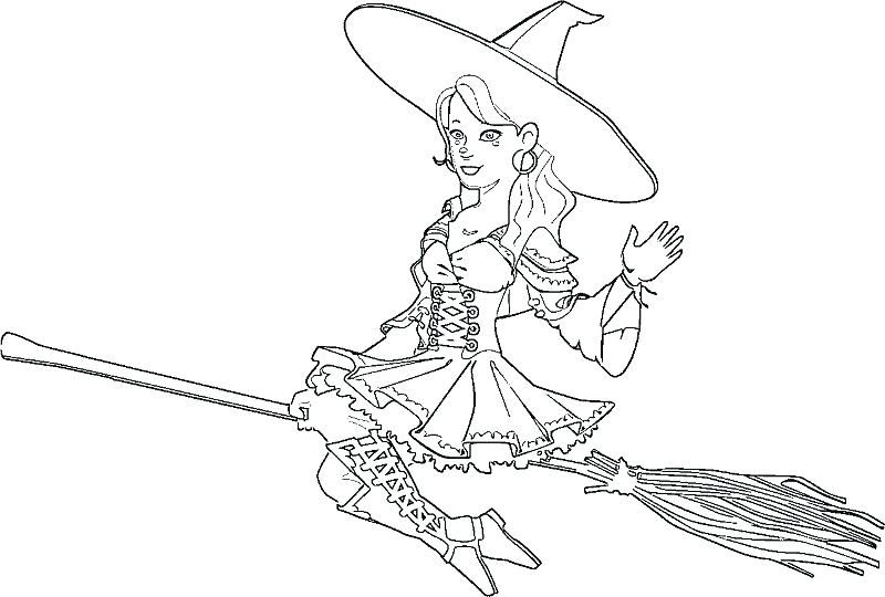 witch coloring pages for adults Printable