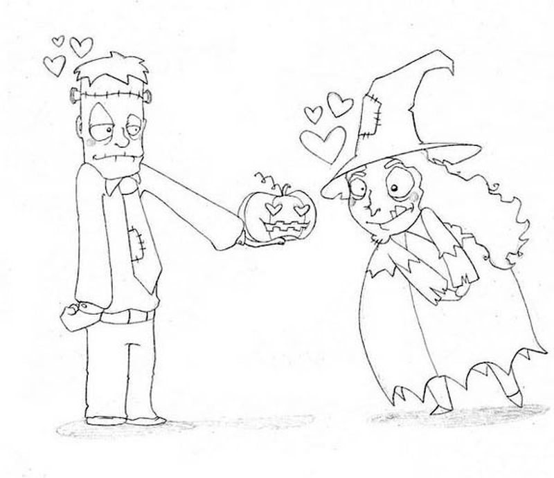 witch coloring pages for toddlers black and white