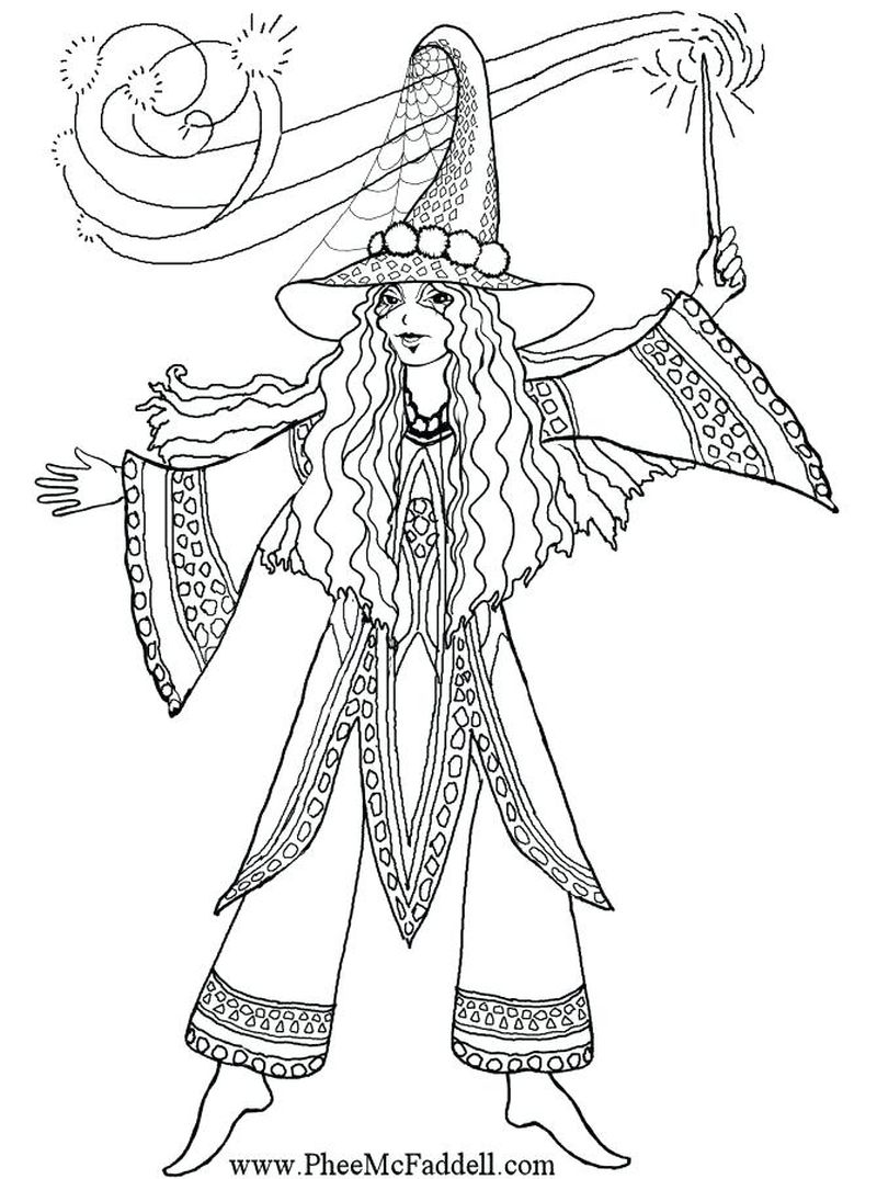 witch coloring pages preschool Printable
