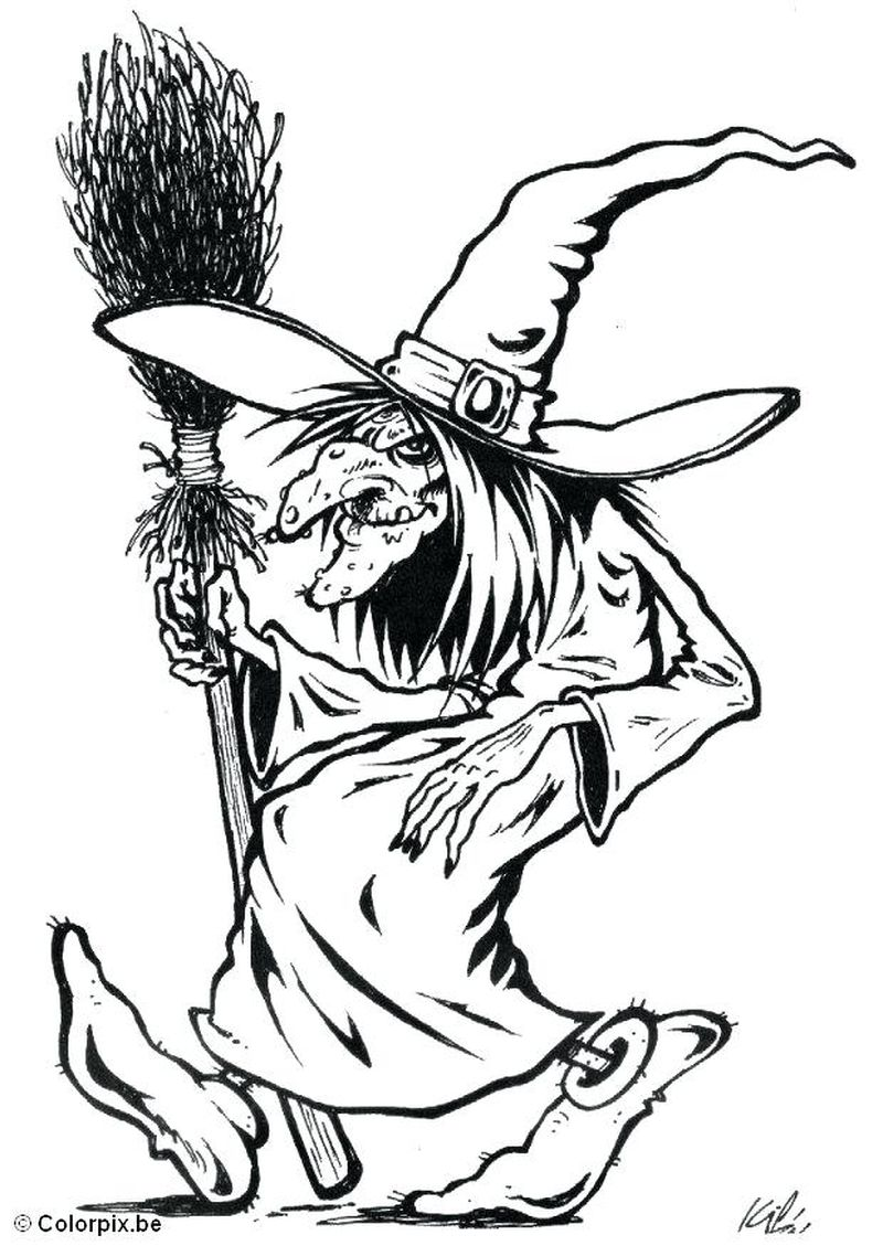 witch coloring pages to print Printable