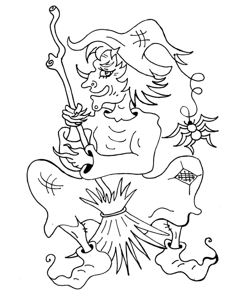 wizard of oz wicked witch coloring pages Printable