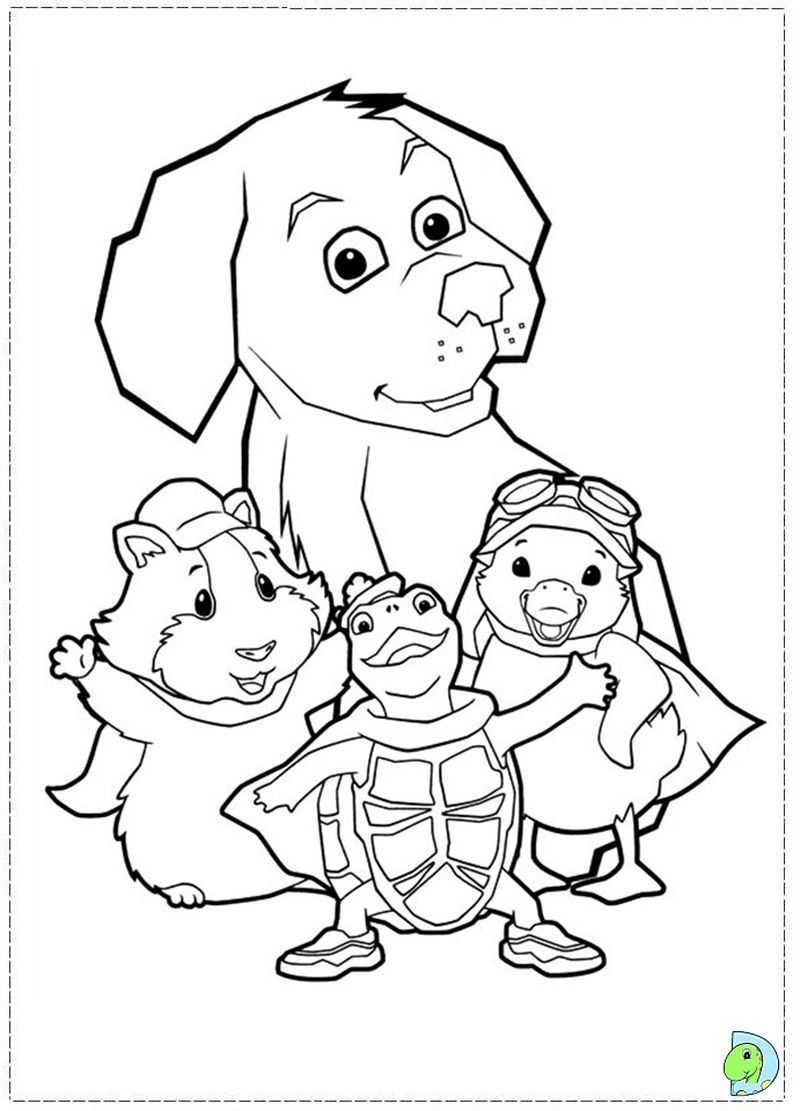wonder pets for dog coloring page