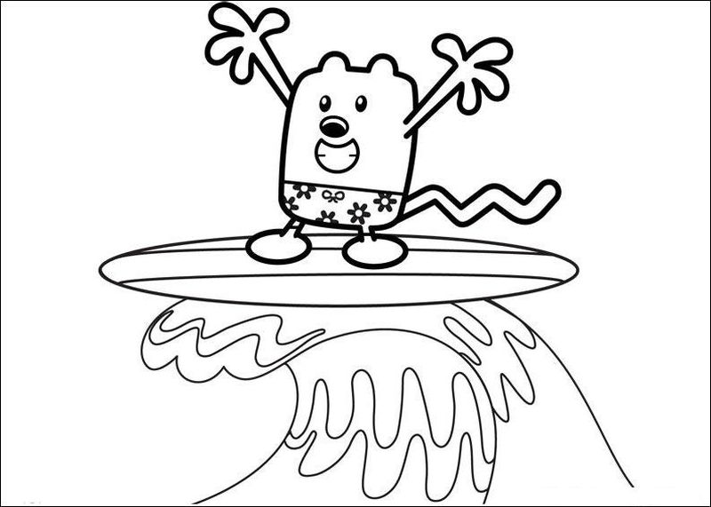 wow wow wubbzy coloring page free