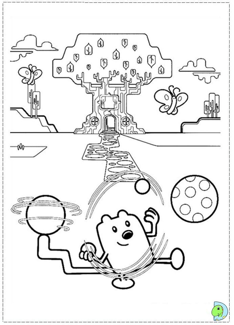 wow wow wubbzy coloring page to print