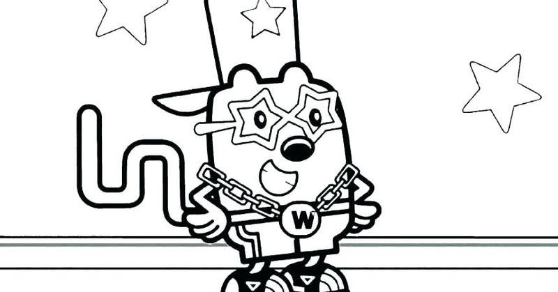 wow wow wubbzy coloring pages online
