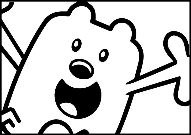 wow wow wubbzy coloring pages print