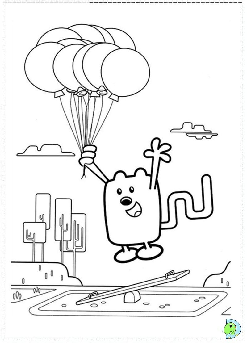 wow wow wubbzy coloring pages