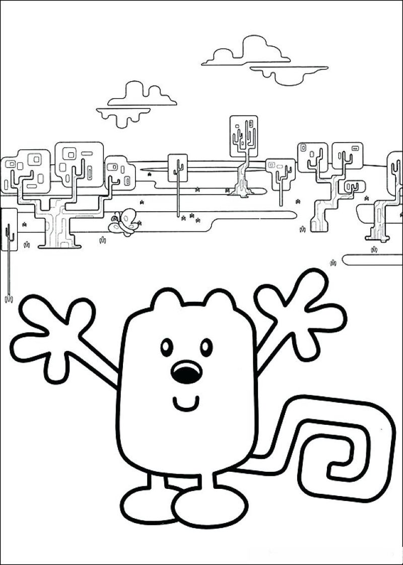 wow wow wubzy coloring pages