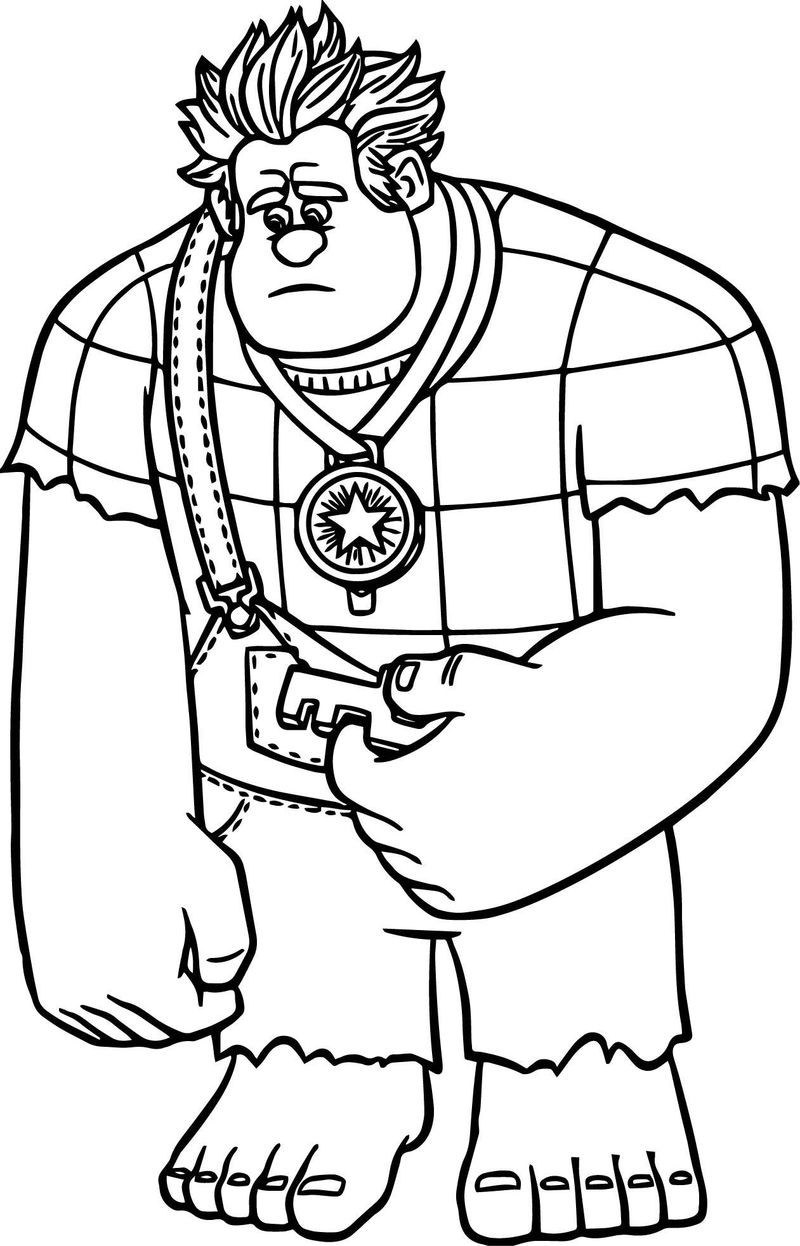 wreck it ralph 2 coloring page