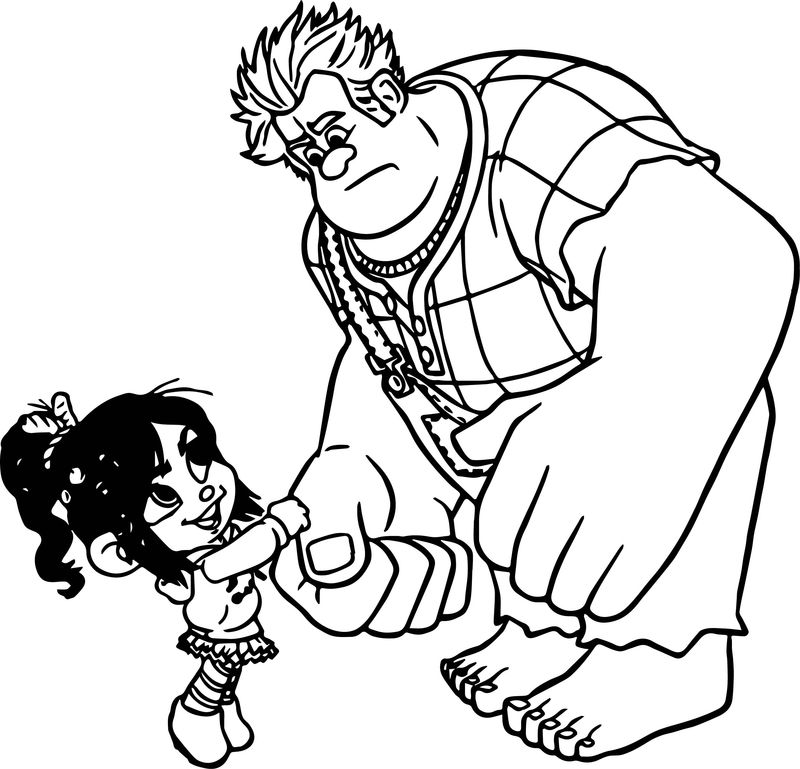 wreck it ralph 2 colouring pages