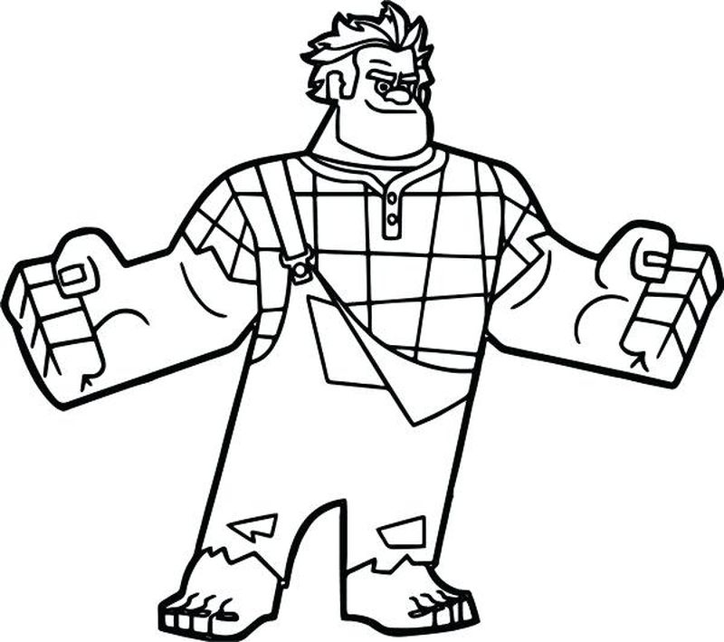 wreck it ralph christmas coloring pages