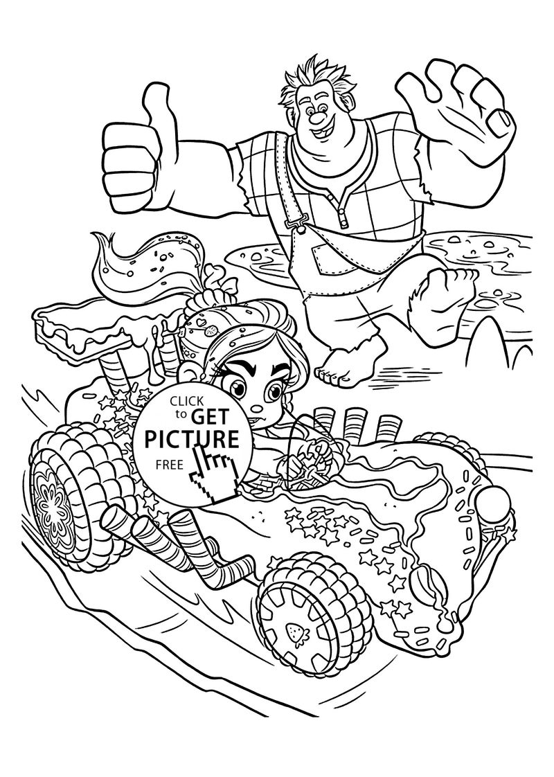 wreck it ralph coloring pages free to print