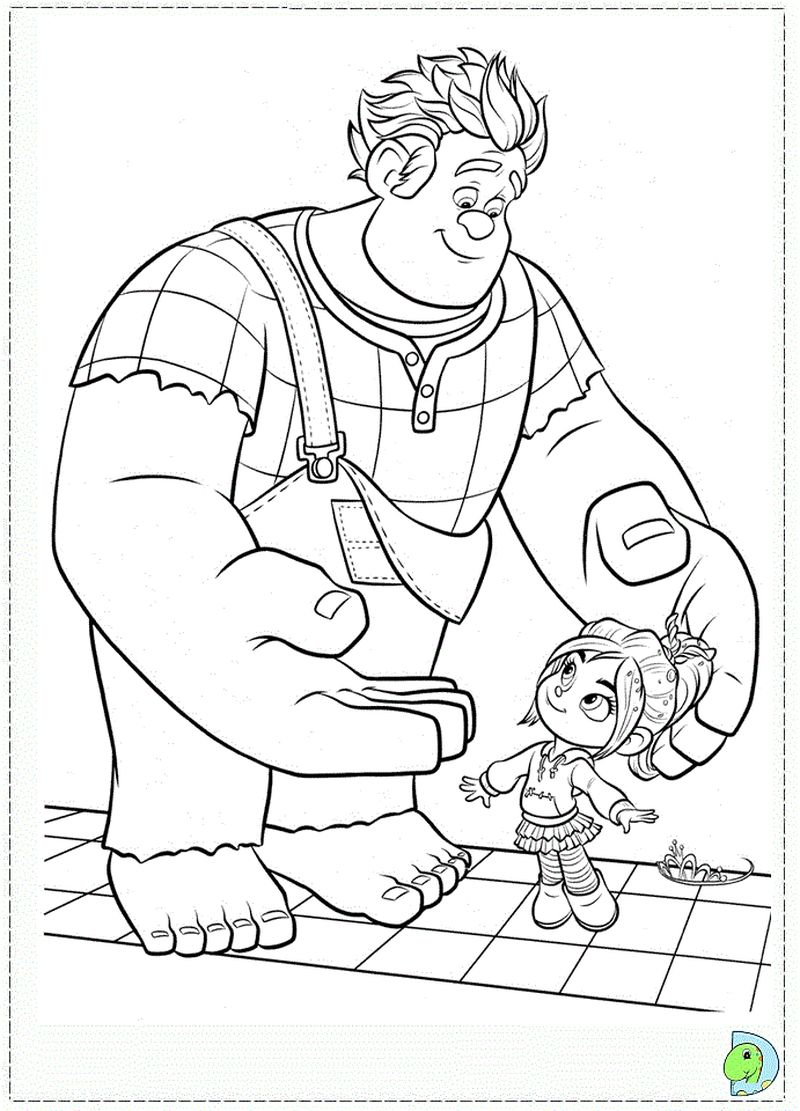 wreck it ralph coloring pages image
