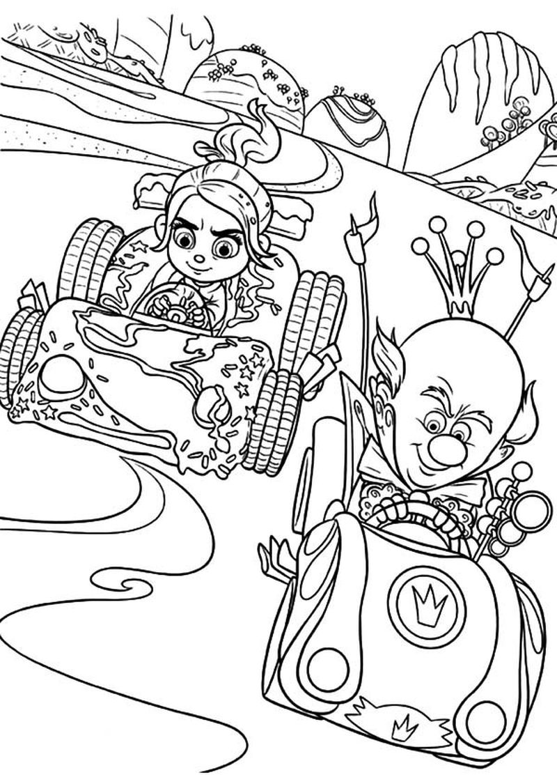 wreck it ralph coloring pages to print