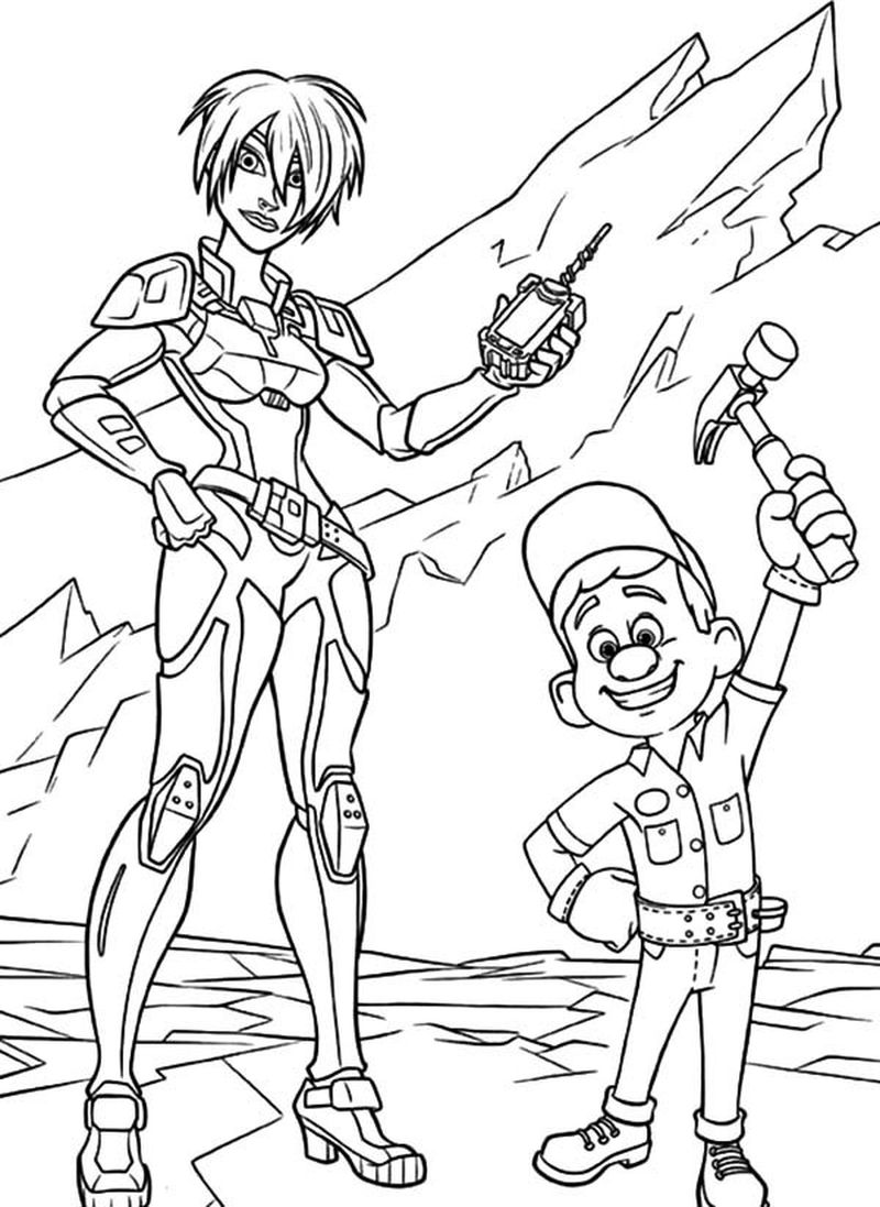 wreck it ralph coloring pages vanellope