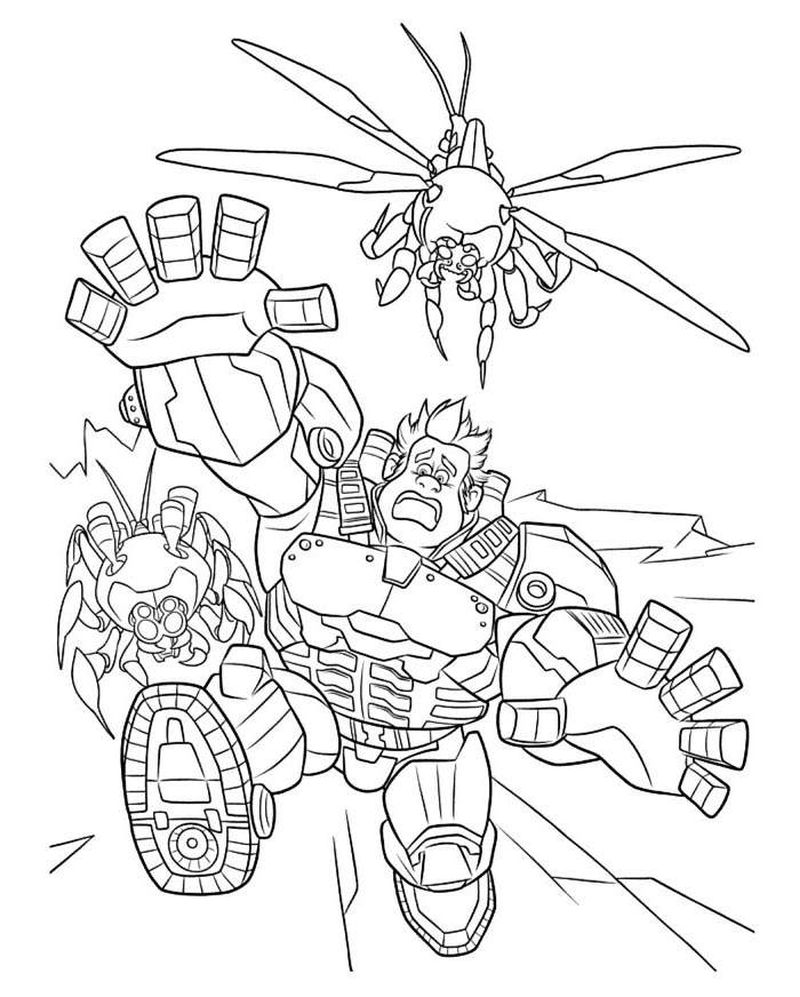 wreck it ralph colouring pages