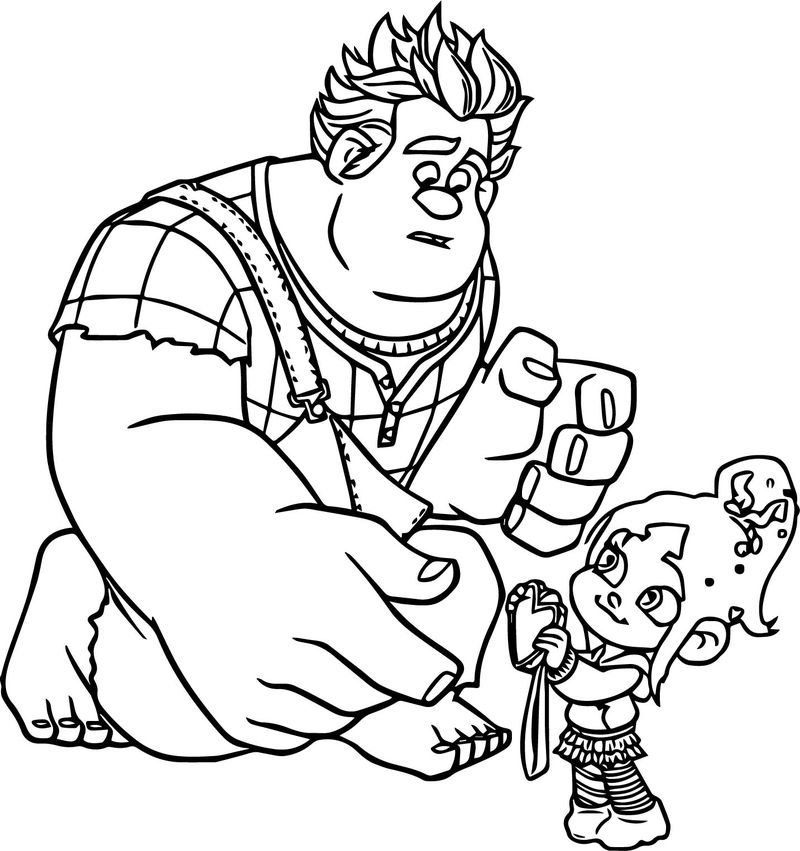 wreck it ralph princess coloring pages
