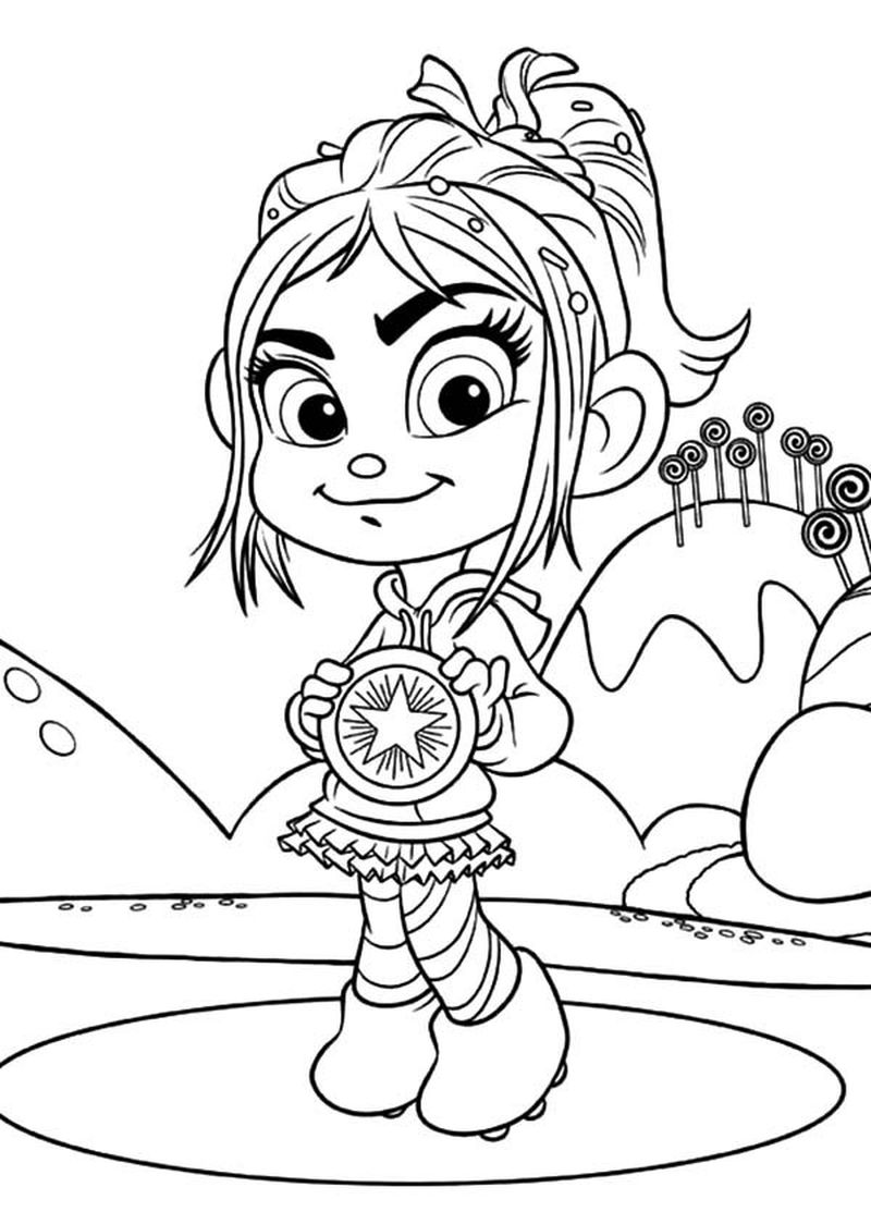 wreck it ralph sugar rush racers coloring pages