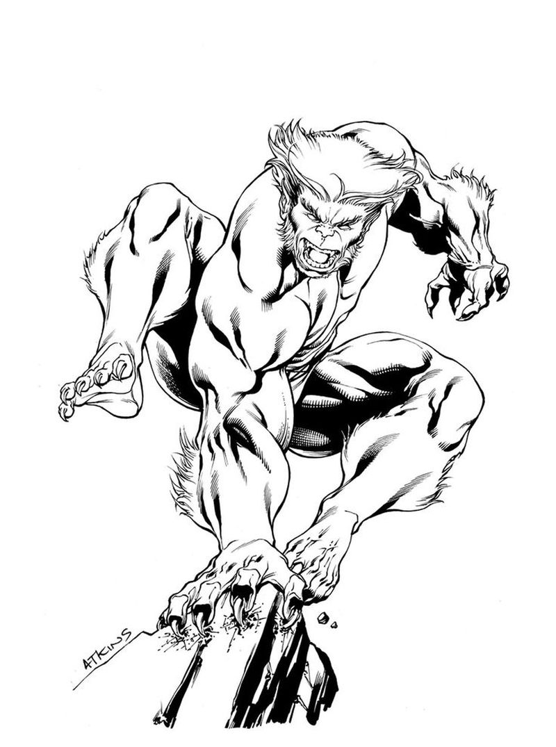 x man coloring page download