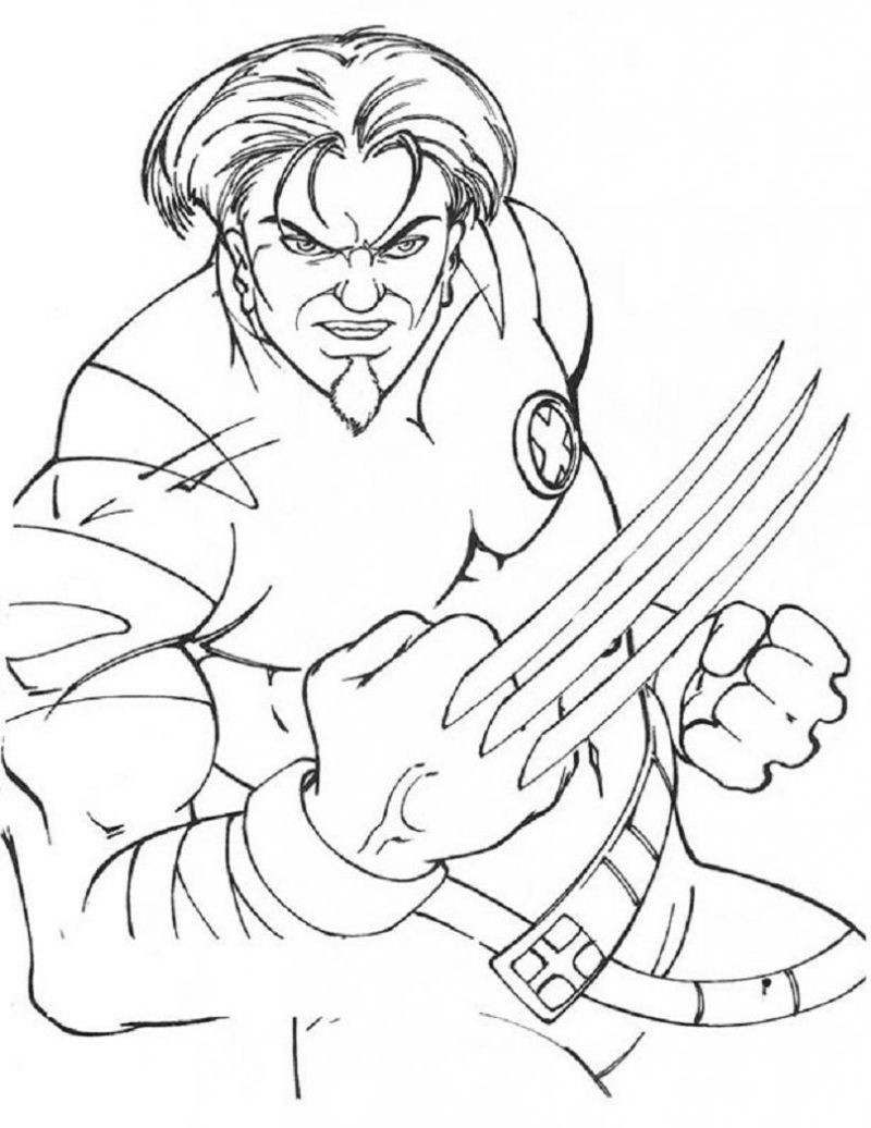 x men coloring page to print