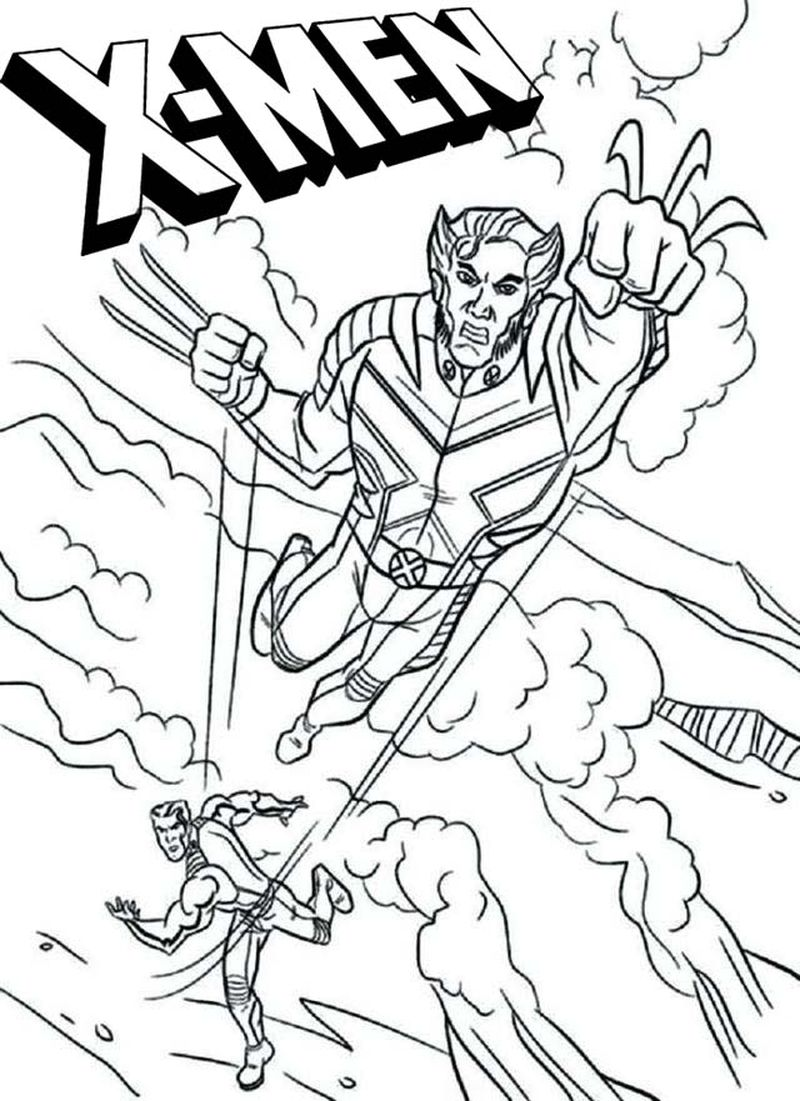 x men coloring pages Printable download