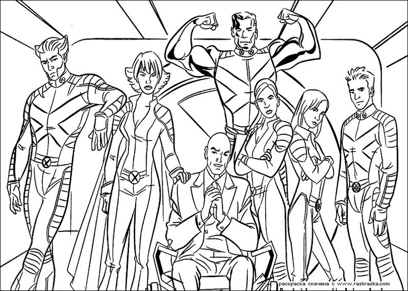 x men coloring pages Printable free 1