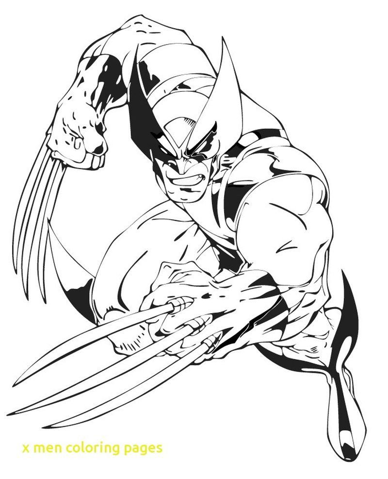 x men coloring pages free Printable