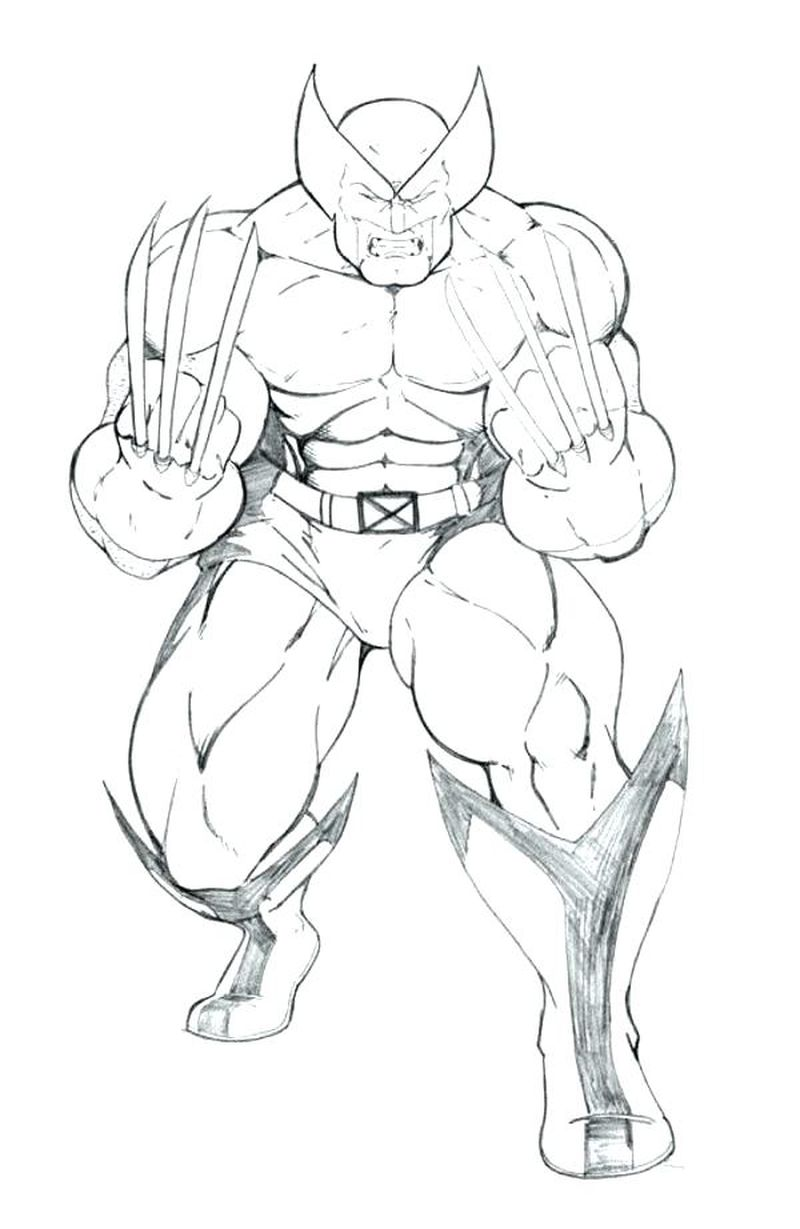 x men coloring pages free to printable