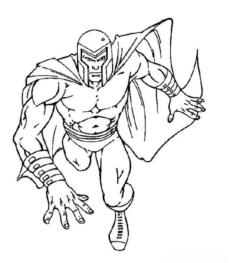 x men drawing coloring page