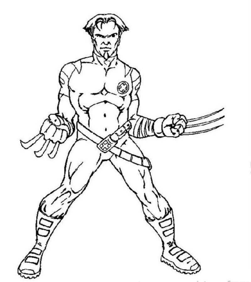 x men pictures printable coloring page