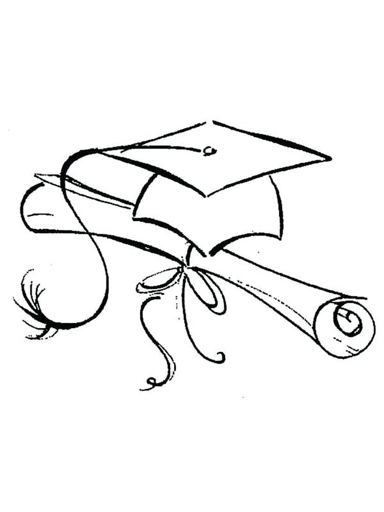 Best printable Graduation Coloring Pages
