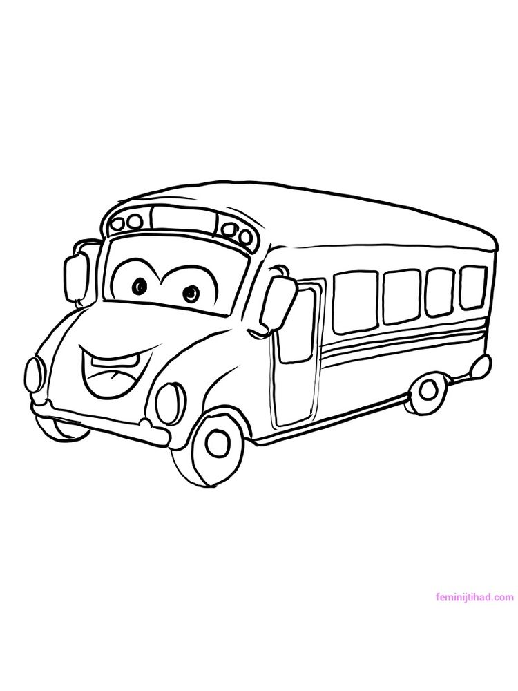 Free School Bus Coloring Pages Free Printables