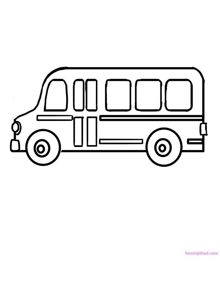 Free School Bus Coloring Sheets Printable