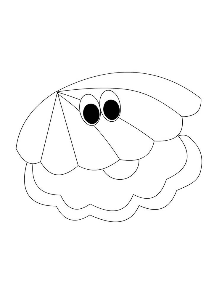 Free Shell Coloring Page Printable