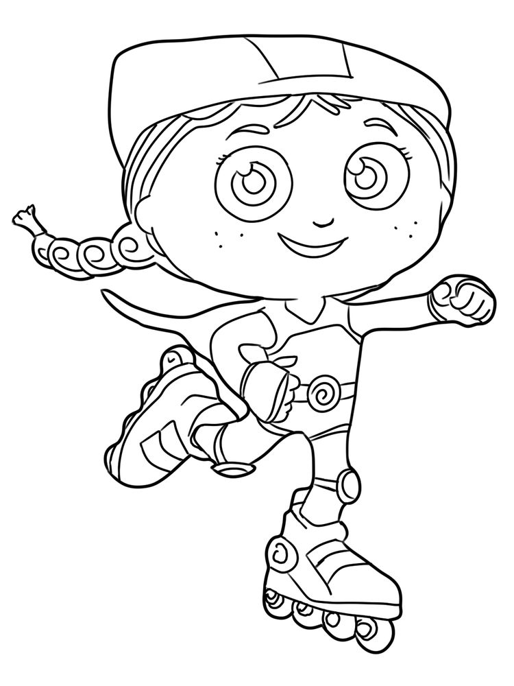 Free Super Why Characters Coloring Pages