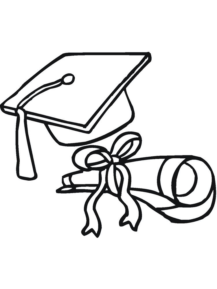 Image printable Graduation Coloring Pages