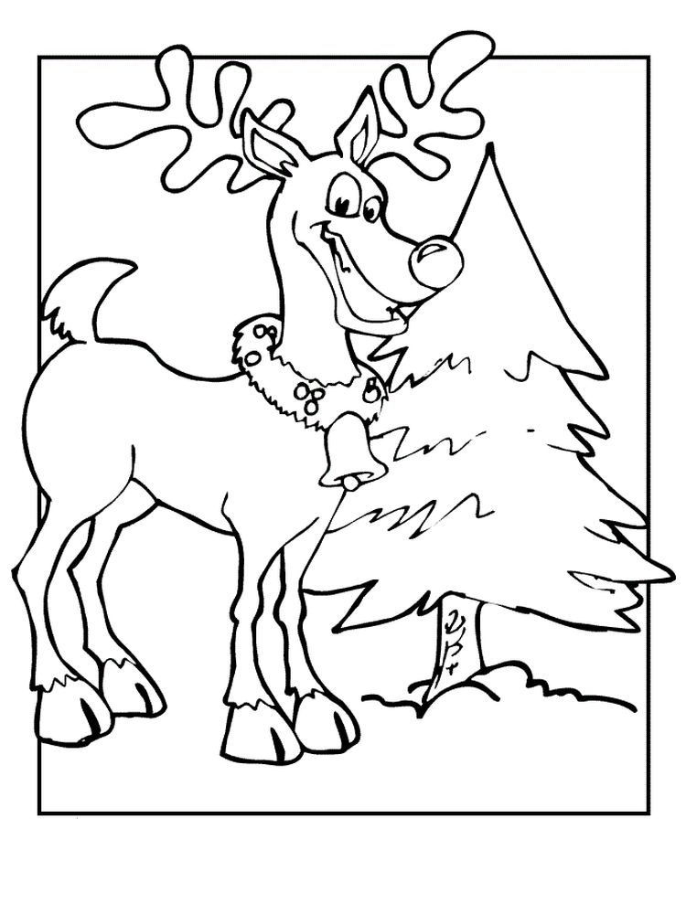 Pdf Reindeer Coloring Pages Free Printable