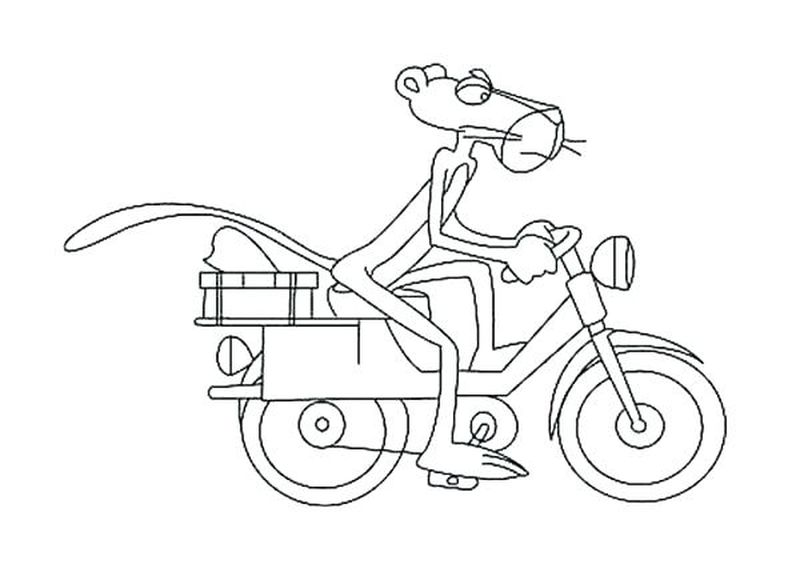 Pink Panther Coloring Page Free
