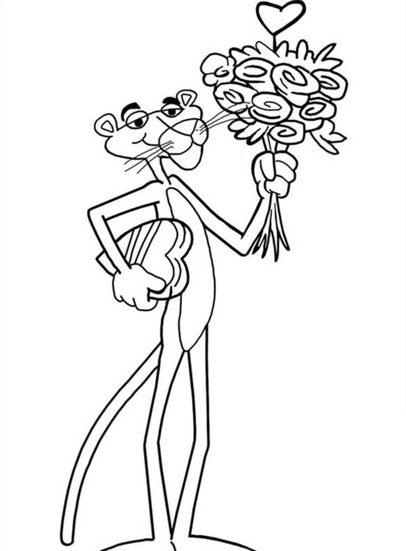 Pink Panther Coloring Page Printable Free