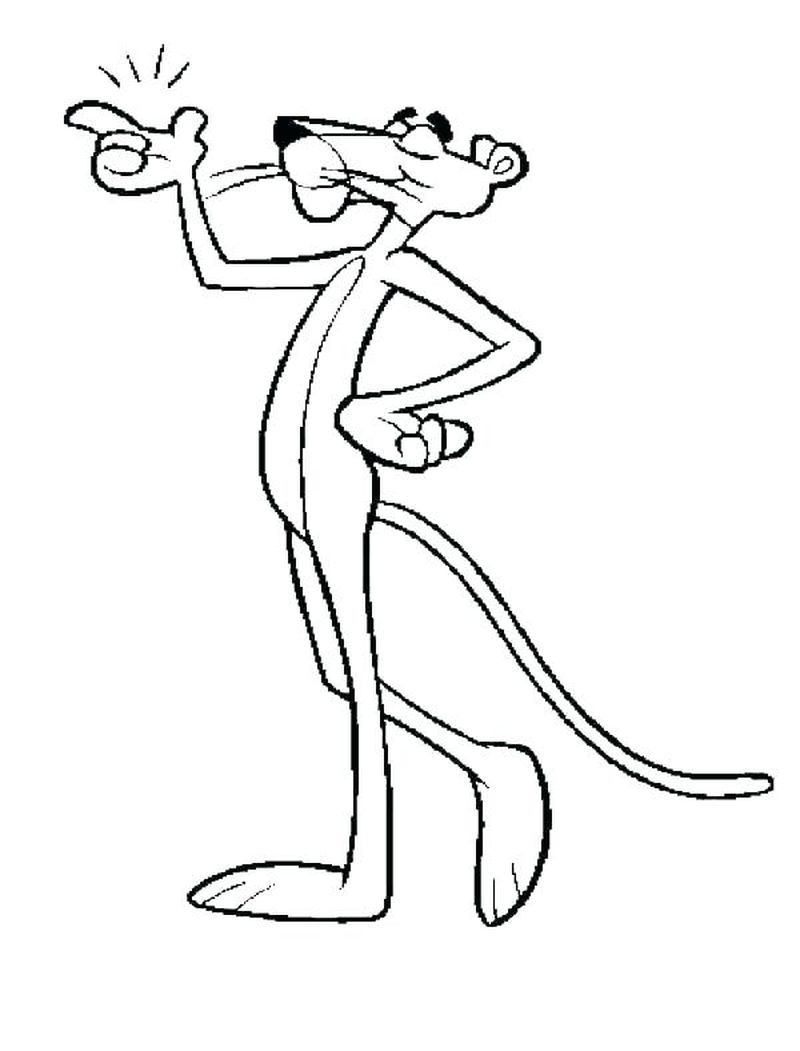 Pink Panther Coloring Sheets Printable