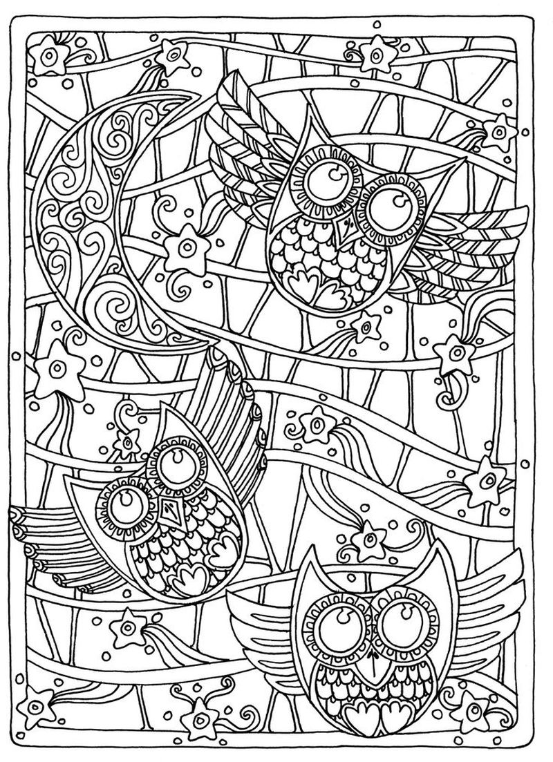 Printable Beautiful Zentangle Coloring Pages