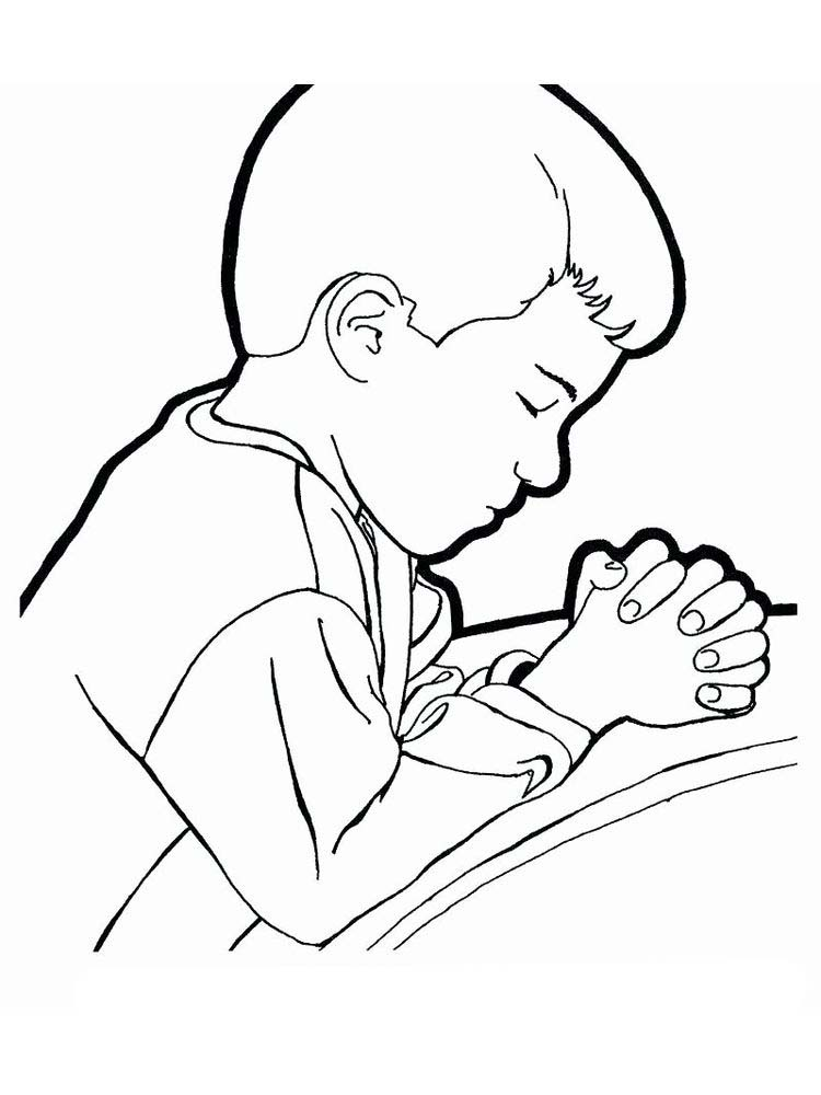 Printable Bible Coloring Pages About Prayer