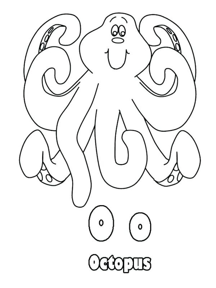 Printable Cartoon Octopus Coloring Pages