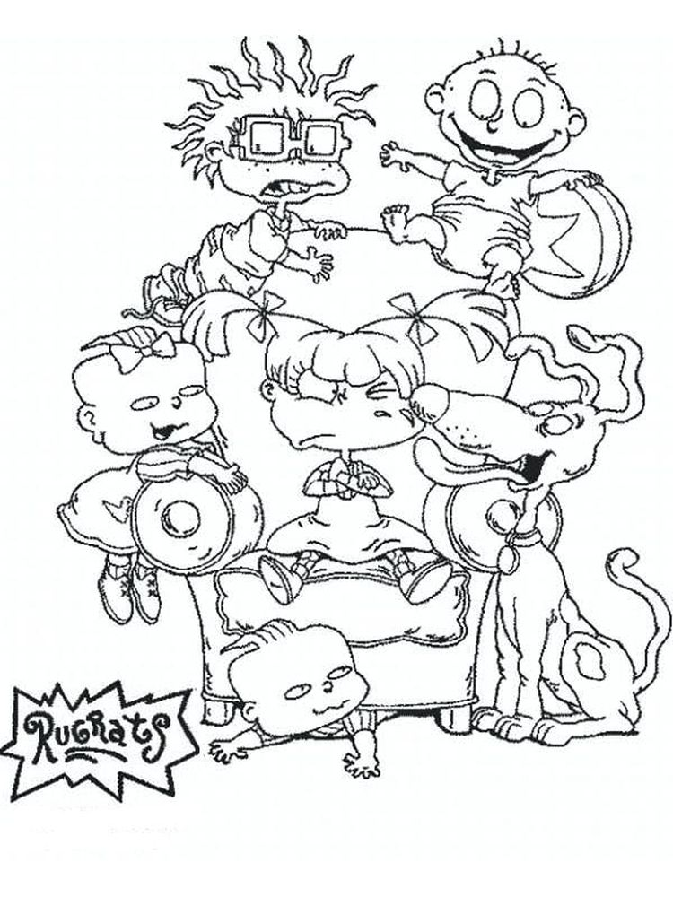 Printable Chuckie Rugrats Coloring Pages